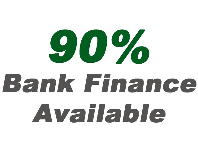 90% Bank Finance Available